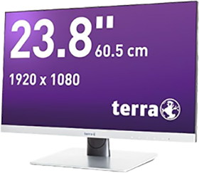 TERRA LED 2462W silber DP/HDMI GREENLINE PLUS